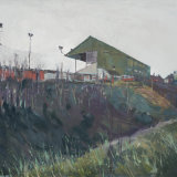 """The Old Grandstand"" Oil on canvas 101cm x 81cm."
