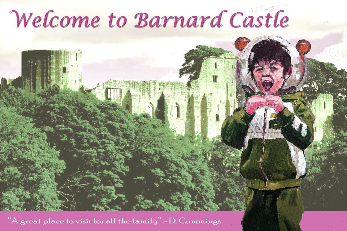 Welcome Barnard Castle postcard