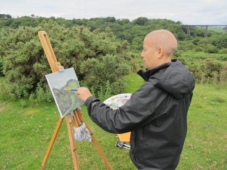 Painting at Meldon