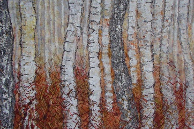 Birches at Barkbeth - detail - Sold