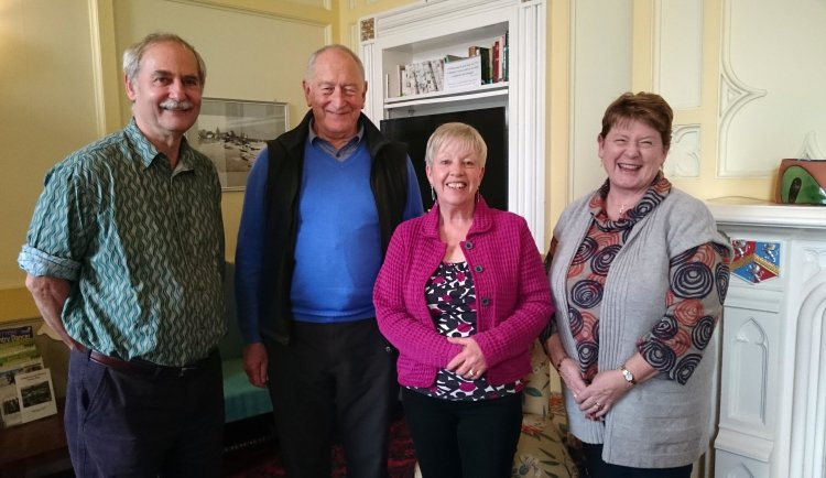 Pictured with three members of the selection committee for the Friends of Higham Scholarship