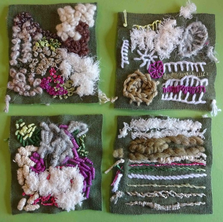 Stitch and thread samples