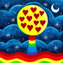 Loveheart  Rainbow Tree