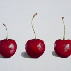 3 cherries white
