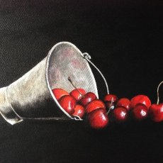 Bucket of Cherries - SOLD