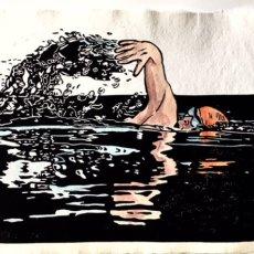 Swimmer print
