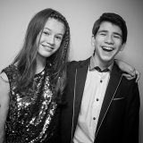 Brother & Sister at a Barmitzvah