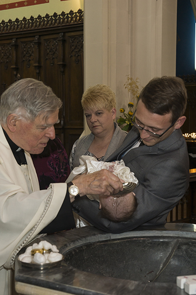 Christening at Our Lady of Grace church in Prestwich