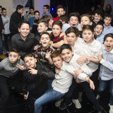 All the lads on the dance floor