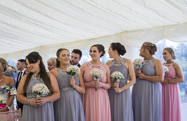 Bridesmaids looking for the Bride