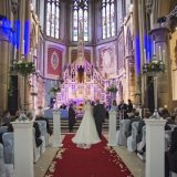 The wedding ceremony at Gorton Monastery