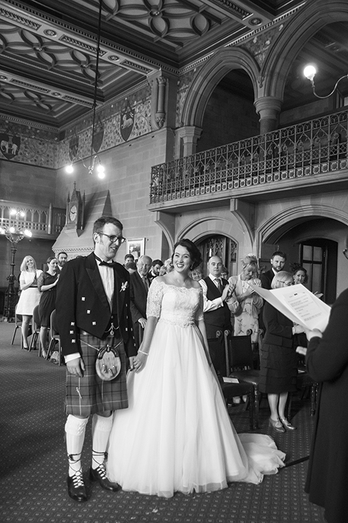 A moment of laughter during the ceremony