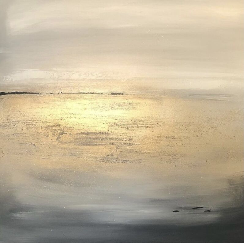 Gold seascape art