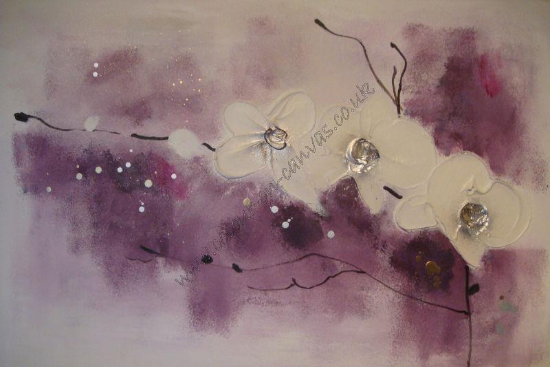 'Trio of Orchids - Purple/Plum'
