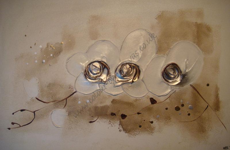 '3 Orchids - Beige'