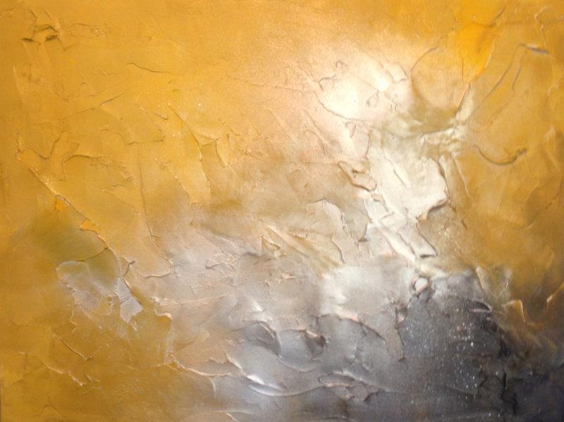 'Mustard/Greys/Silver Textured'