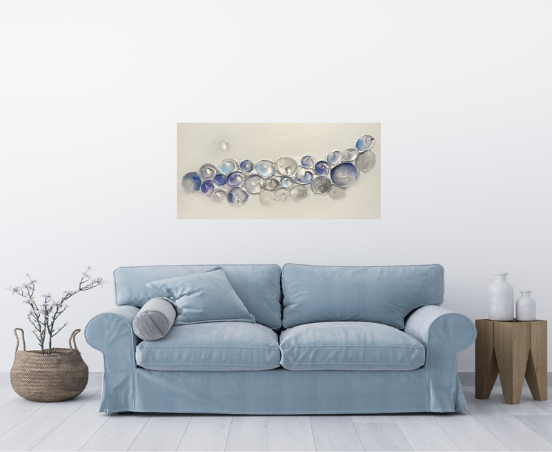 'Bubbles - Blues' Contemporary Abstracts direct from UK artist!