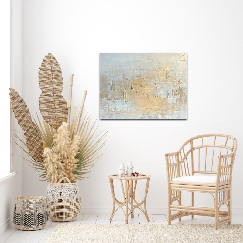 soft gold/white textured in room