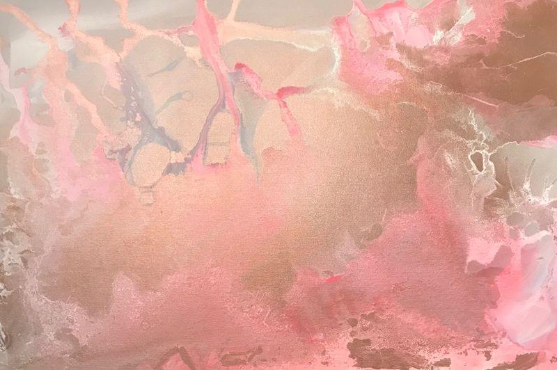 'Experiment - Pink' 90x60cm £85