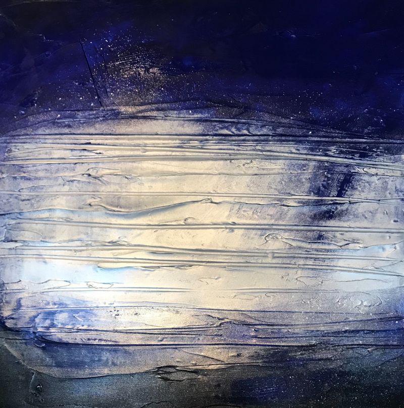 'Glow - Navy/Silver'