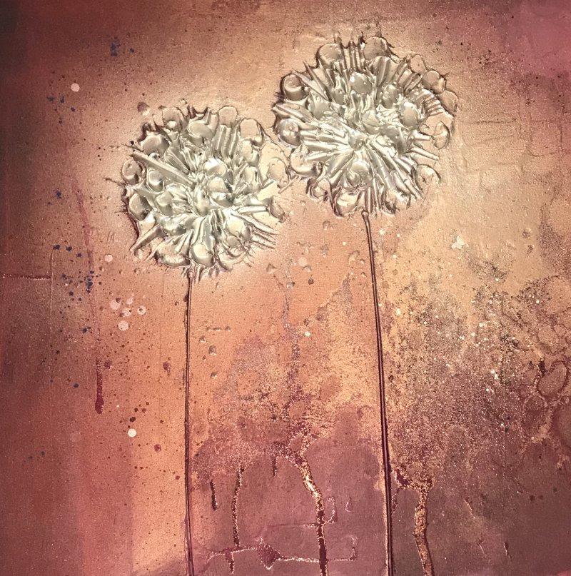 'Pom Pom Floral -Purple/Plums'