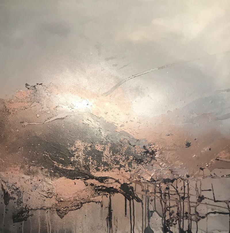 Copper canvas art