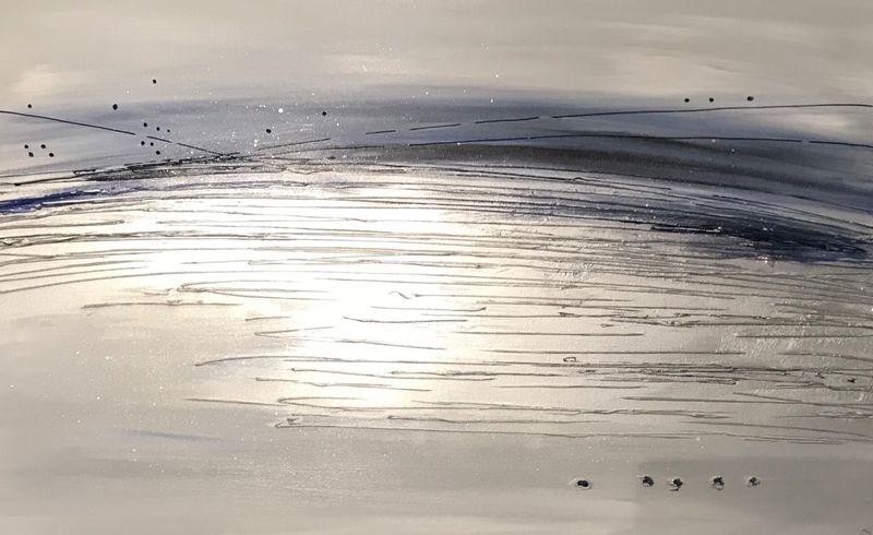 'Silver Splash - Navy'