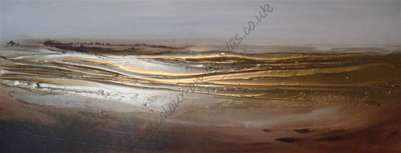 'Coastline 2 - Browns/Gold'