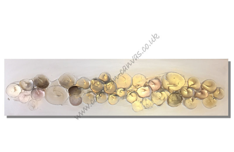 'Bubbles- Gold/Greys/Brown'