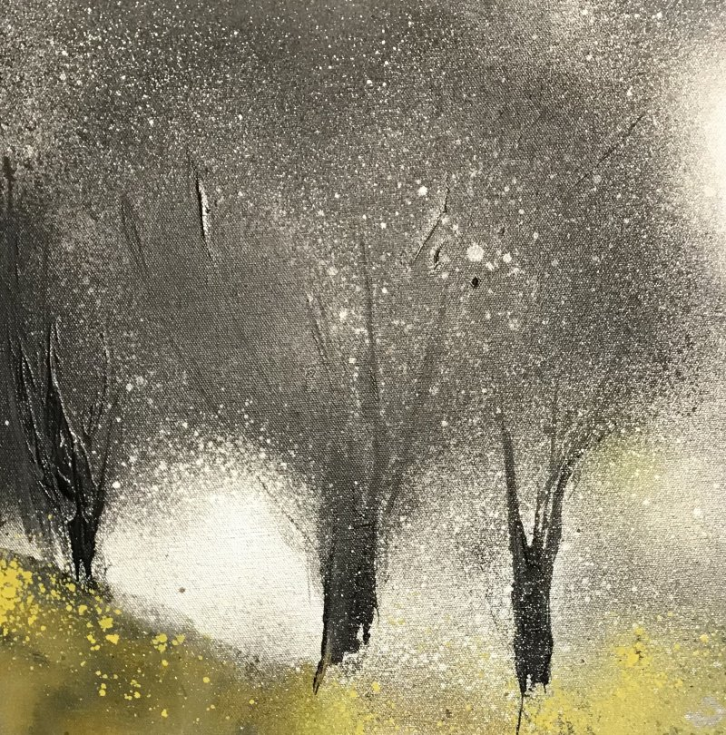 'Trees - Greys/yellow'