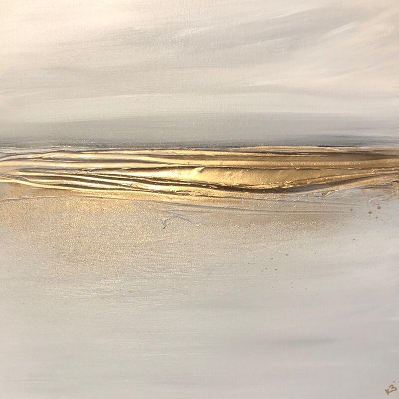 Gold seascape canvas