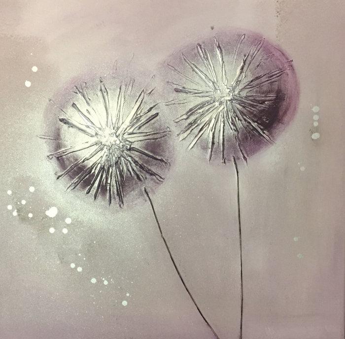 'Lilac Pom Poms'