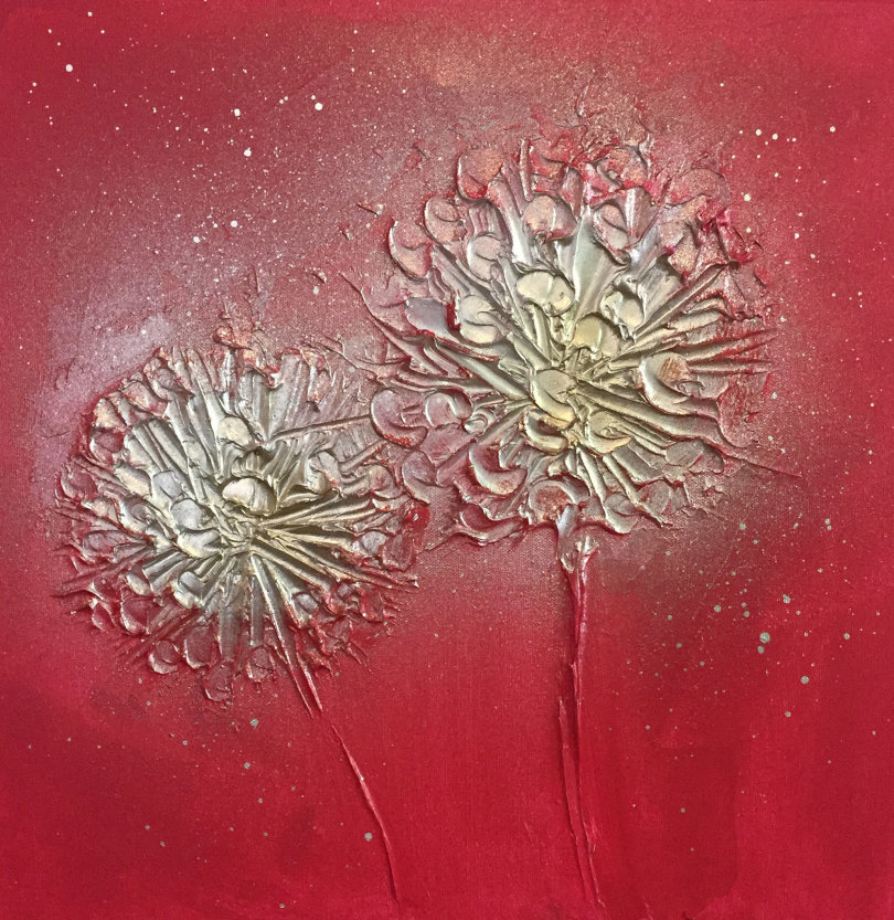 'Pom Pom Floral - Magenta'