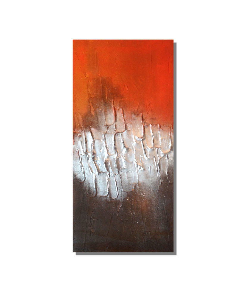 'Orange/Silver/Brown Fully Textured'
