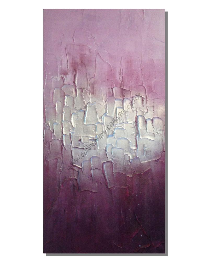 Plum/Purple Silver Full Textured