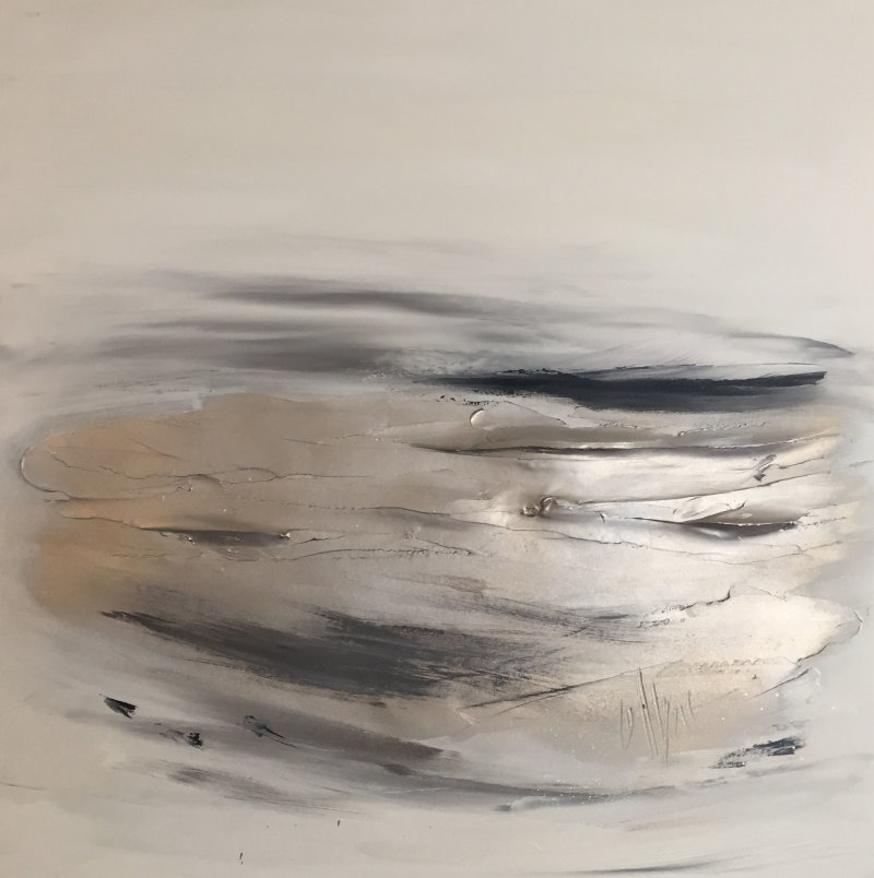 'Water's Edge - Champagne gold/greys'
