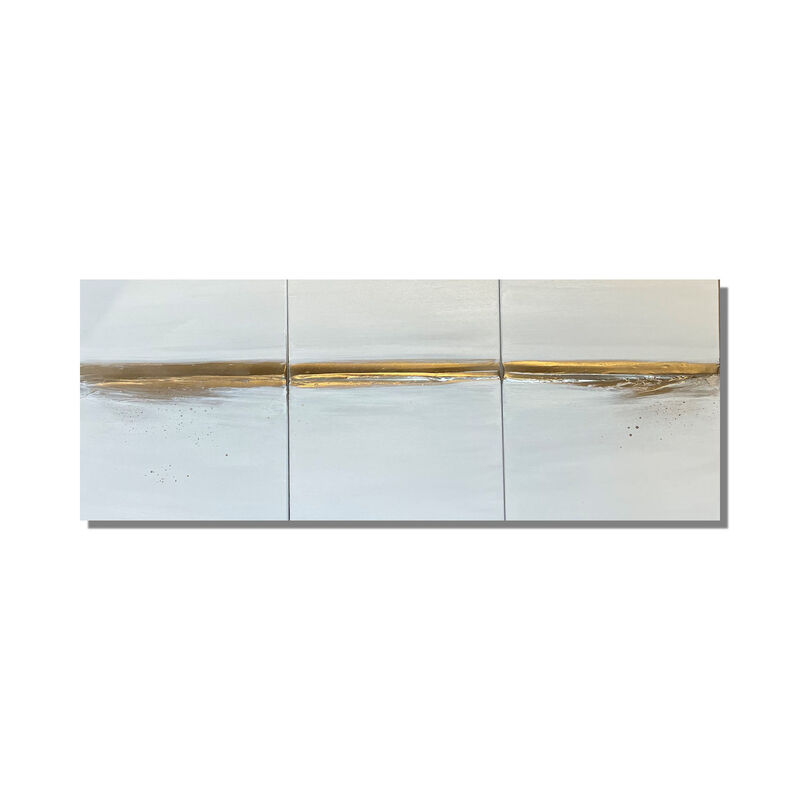 "Set of 3 x 'Gold Horizon' 3 x 18""x 14"" canvases £125"