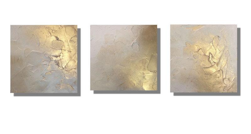 'Sumptuous - Golds & Cream' Set of 3