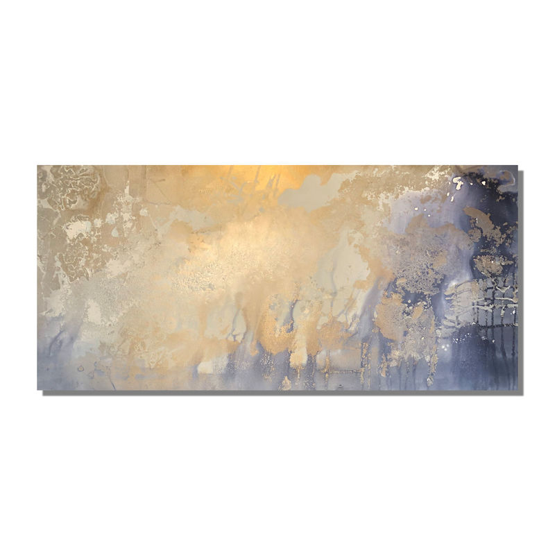 blue and gold canvas art