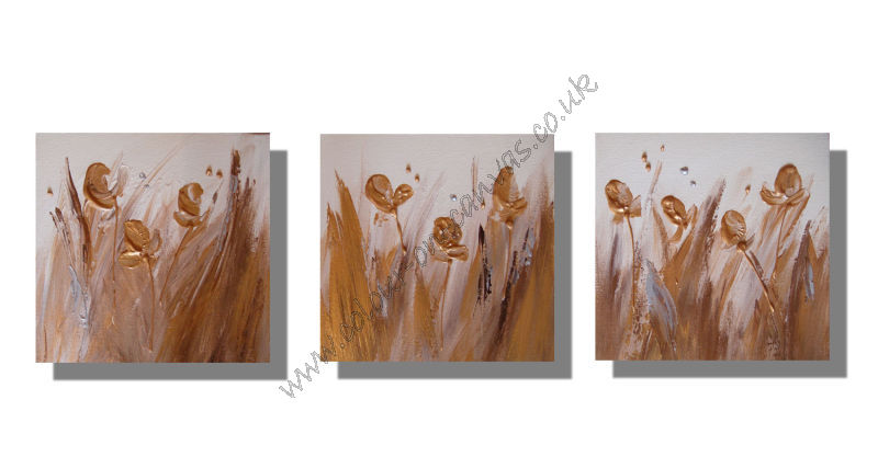'Gold Irises' Set of 3
