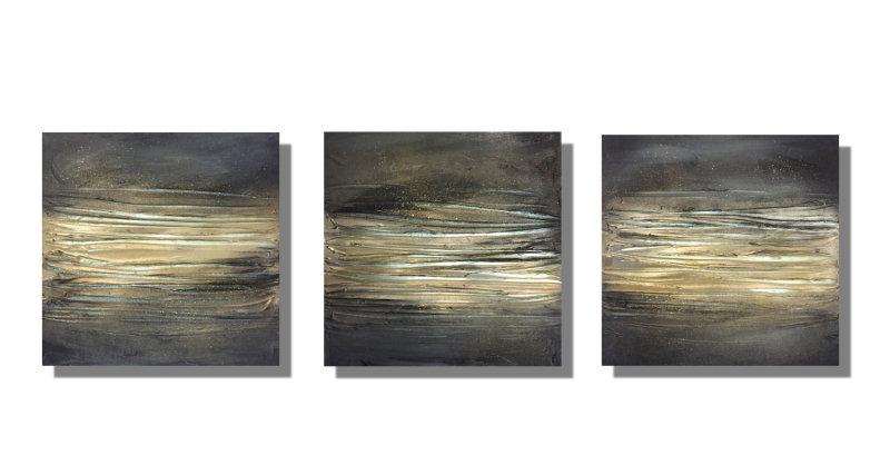 'Glow - Greys' Set of 3