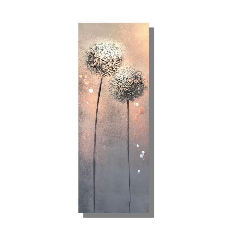 alliums copper canvas wall art