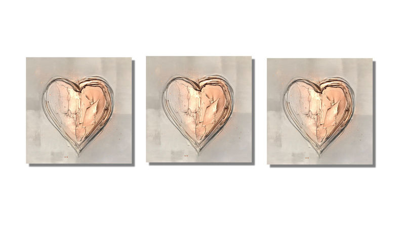 copper heart wall art