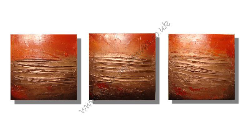 'Burnt Glow' Set of 3