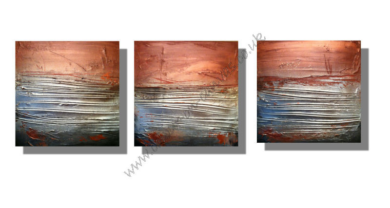 'Copper Glow' Set of 3