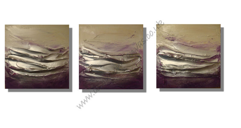 'Purple Textured' Set of 3