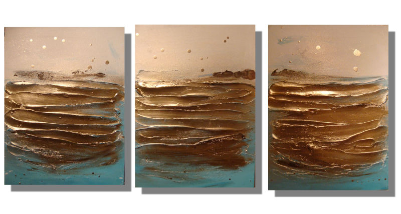 'Ripples Gold - Set of 3'