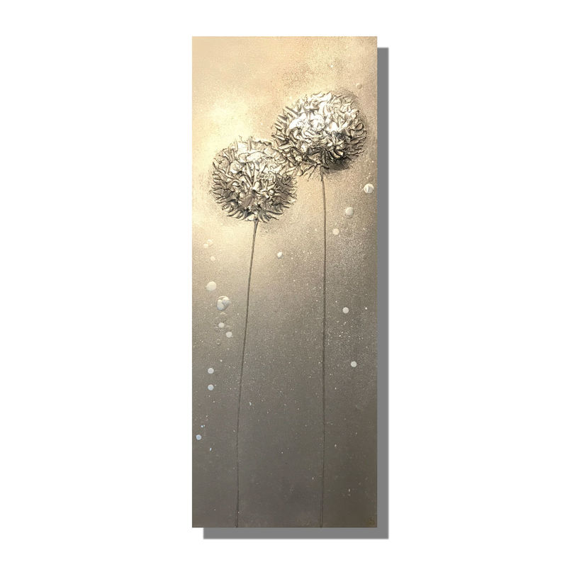 Silver wall art canvas