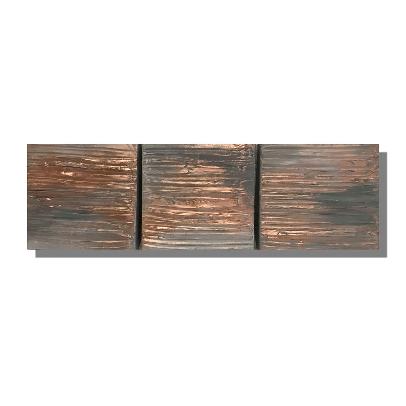 Copper and grey art