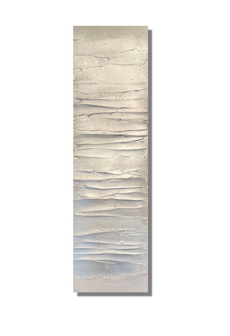 'Frosted Glaze Silver/Soft Greys' 102x30cm £105